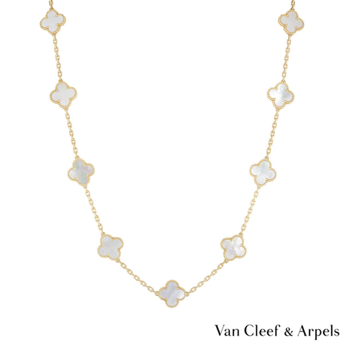 Van Cleef & Arpels Yellow Gold Vintage Alhambra Necklace VCARA42100